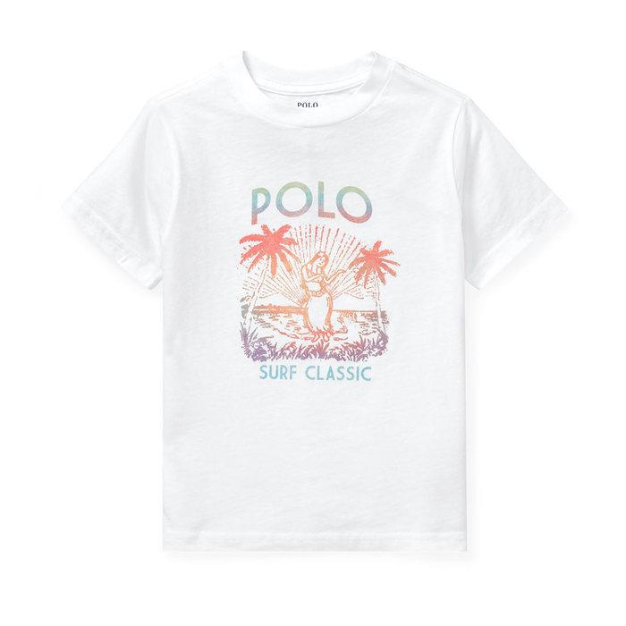 画像1: POLO RALPH LAUREN BOYS  cotton jersey graphic t-shirt (M) (1)