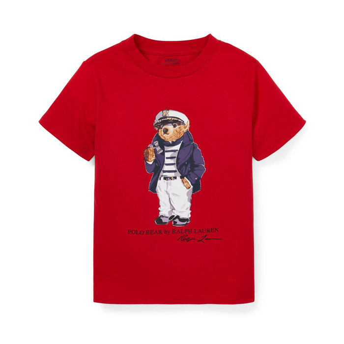 画像1: POLO RALPH LAUREN BABY   nautical bear cotton t-shirt  (1)