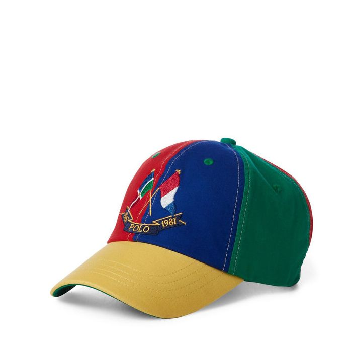 画像1: POLO RALPH LAUREN   1987 color-blocked cap (1)