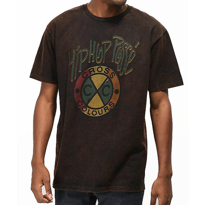 画像1: CROSS COLOURS   Acid Wash Hip Hop Posse T-Shirt (1)