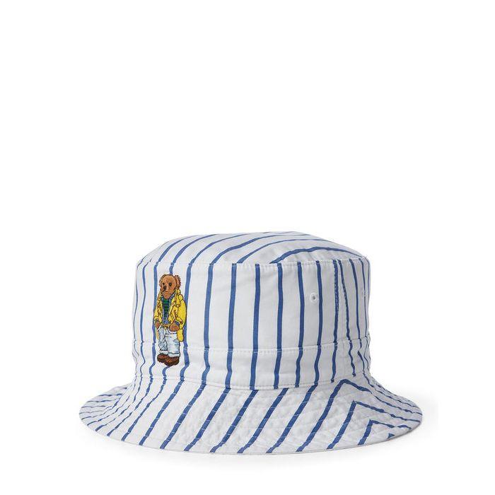 画像1: POLO RALPH LAUREN   reversible crested bucket hat (1)