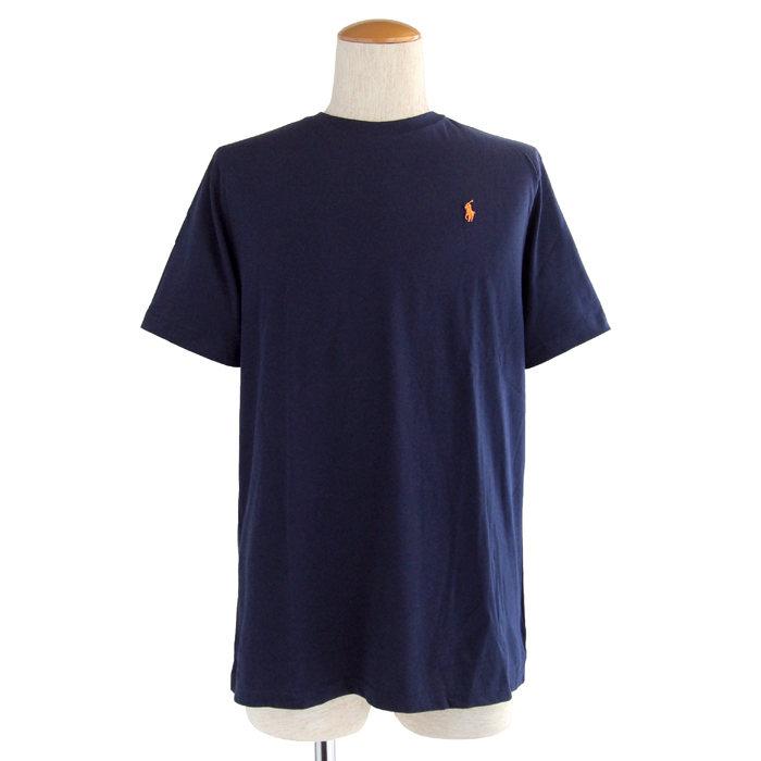 画像1: POLO RALPH LAUREN BOYS  cotton crewneck t-shirt NAV (BOYS)  (1)