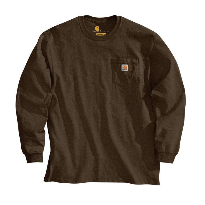 画像1: Carhartt   long-sleeve workwear pocket t-Shirt (Irregular) (1)