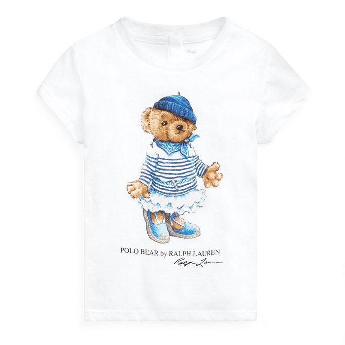 画像1: POLO RALPH LAUREN BABY GIRLS   riviera bear cotton t-shirt  (1)