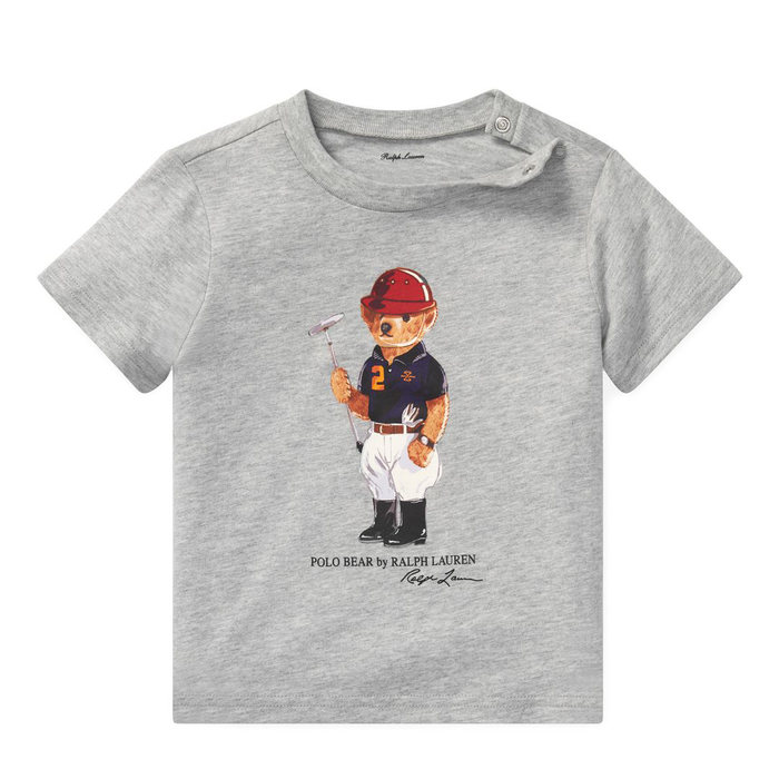 画像1: POLO RALPH LAUREN BABY   polo bear cotton t-shirt  (1)