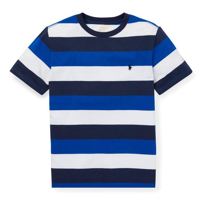 画像1: POLO RALPH LAUREN KIDS   striped cotton jersey t-shirt (S-L) (1)