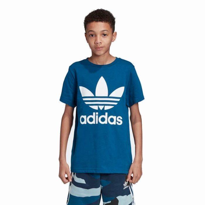 画像1: adidas Originals KIDS   trefoil tee BL (1)