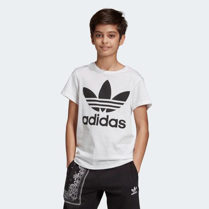 画像1: adidas Originals KIDS   trefoil tee WH (1)