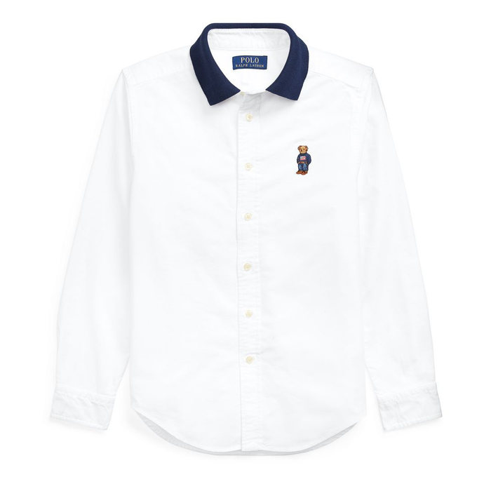 画像1: POLO RALPH LAUREN KIDS   polo bear cotton oxford shirt (M-XL) (1)