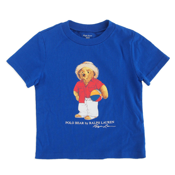 画像1: POLO RALPH LAUREN KIDS  polo bear cotton t-shirt BL (1-2歳) (1)