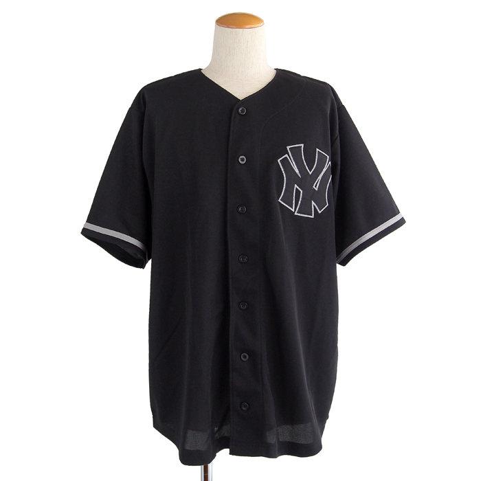 画像1: NEW YORK YANKEES  baseball shirt (XL) (1)
