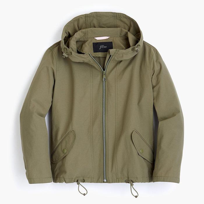 画像1: J.CREW WOMAN  Cropped perfect rain jacket (S) (1)