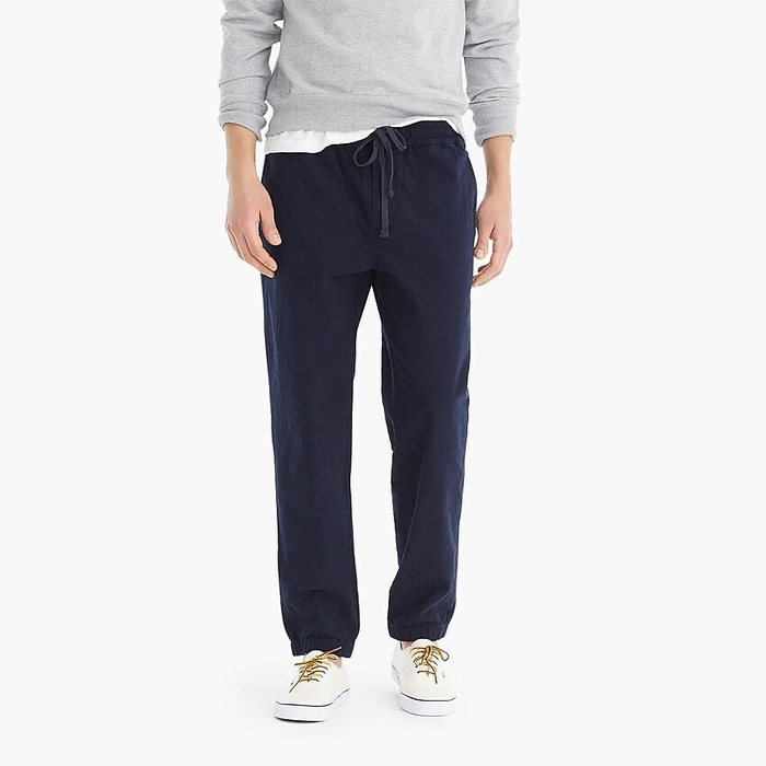画像1: J.CREW  drawstring pant in dark chambray (M) (1)