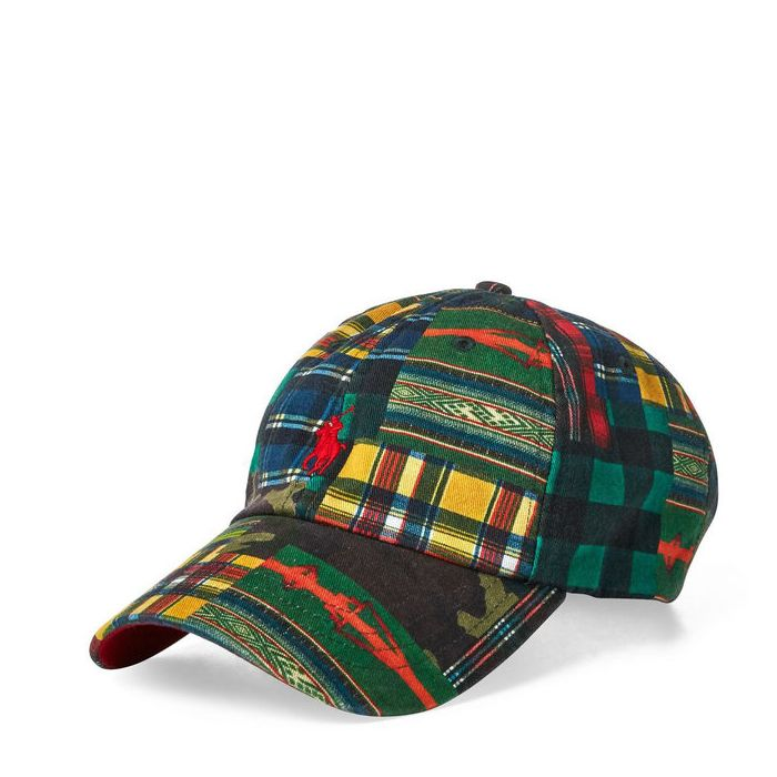 画像1: POLO RALPH LAUREN   cotton patchwork baseball cap (1)