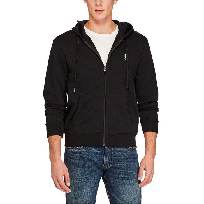 画像1: POLO RALPH LAUREN   double-knit full-zip hoodie BLACK (1)