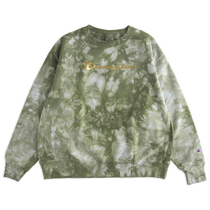 画像1: Champion  reverse weave tie dye sweatshirt (XL) (1)