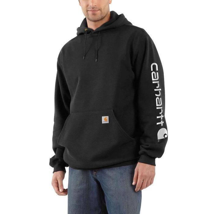 画像1: Carhartt   Midweight Hooded Logo Sweatshirt (Irregular) (L-XL) (1)