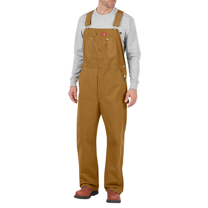 画像1: Dickies   Duck Brown Bib Overalls  (1)