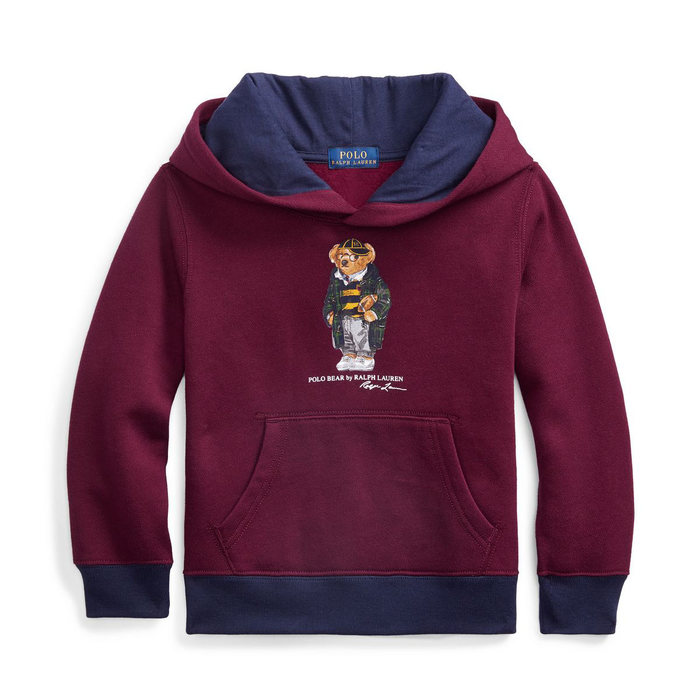 画像1: POLO RALPH LAUREN KIDS   football bear fleece hoodie (1)