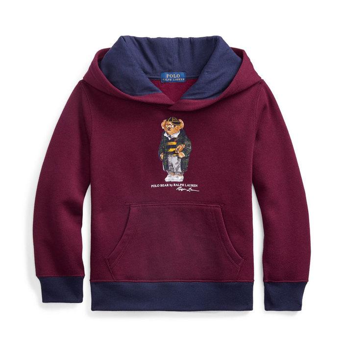 画像1: POLO RALPH LAUREN BOYS   football bear fleece hoodie (1)