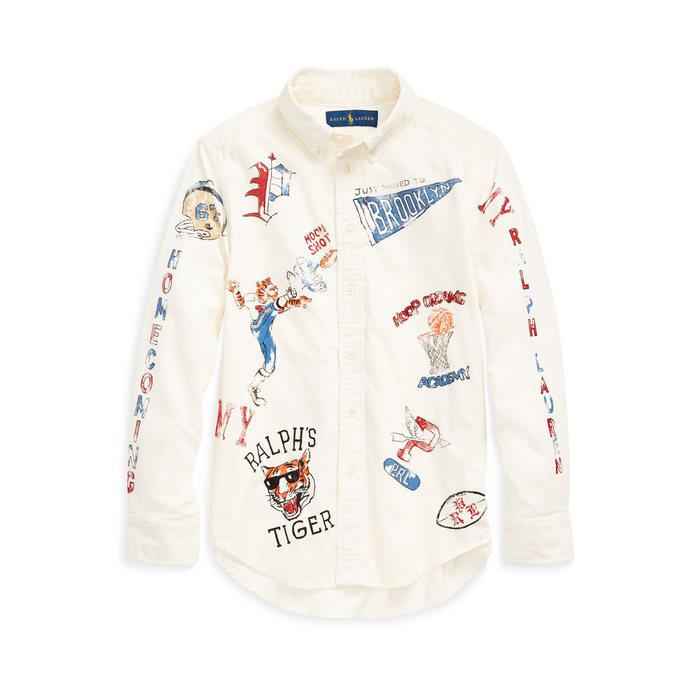 画像1: POLO RALPH LAUREN BOYS   cotton corduroy graphic shirt (1)