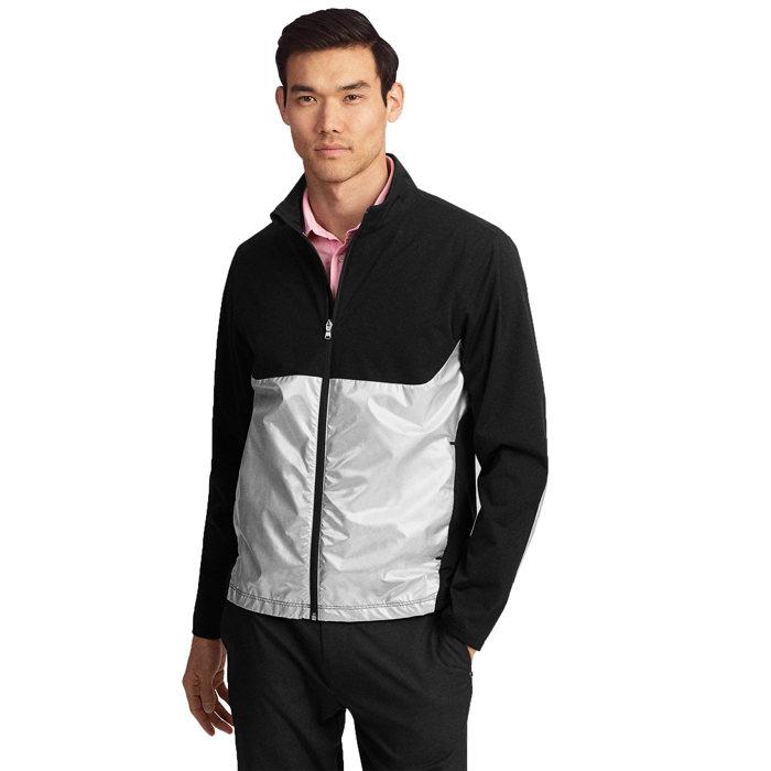 画像1: RLX GOLF   paneled interlock golf jacket (M) (1)