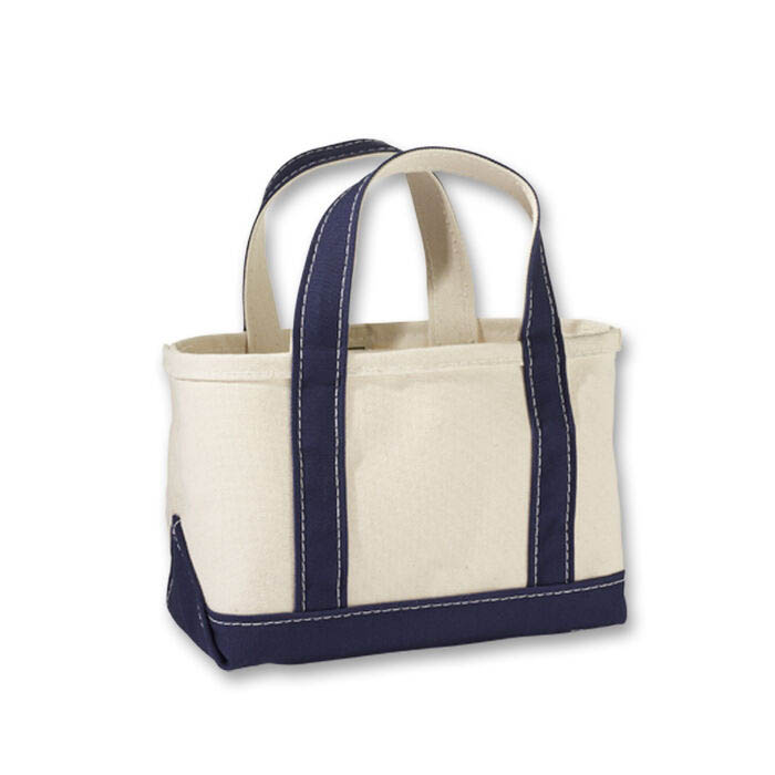 画像1: L.L.Bean   boat and tote bag open-top (Irregular) regular handle MINI BLUE (1)