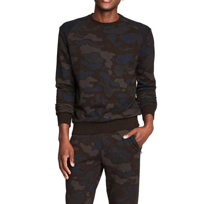 画像1: 3.1 Phillip Lim  long sleeve crewneck sweatshirt BROWN CAMO (XL) (1)