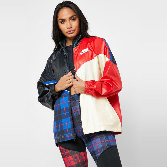 画像1: NIKE Sportswear NSW WOMEN  woven checked jacket (M) (1)