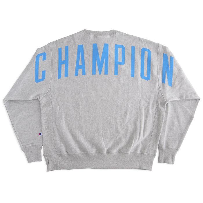画像1: Champion   Reverse Weave Back Arch Logo Crew Sweatshirt (1)
