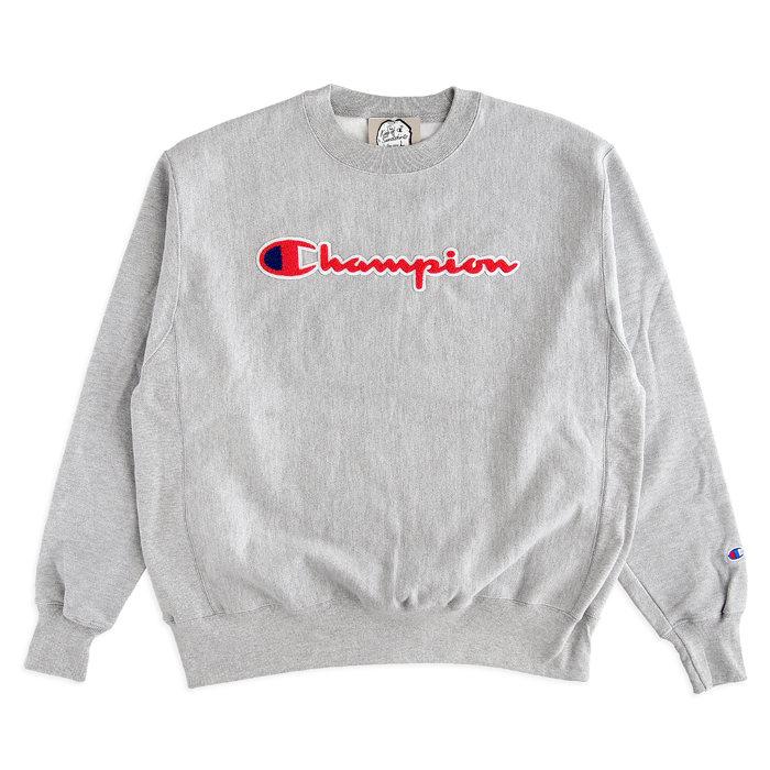 画像1: Champion  Reverse Weave Crew Logo Sweatshirt (L) (1)