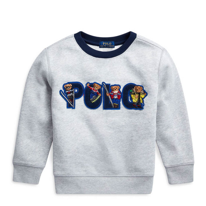 画像1: POLO RALPH LAUREN BOYS   ski bear fleece sweatshirt (XL) (1)