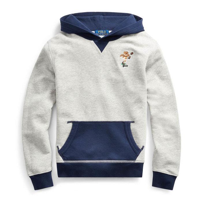 画像1: POLO RALPH LAUREN BOYS   kicker bear cotton hoodie (L-XL) (1)
