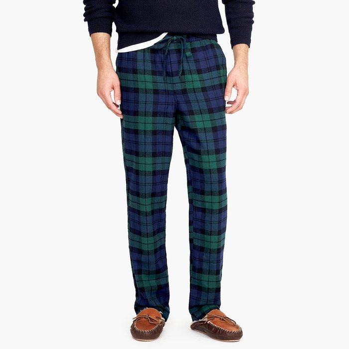画像1: J.CREW   Flannel pajama pant in Black Watch tartan (S) (1)
