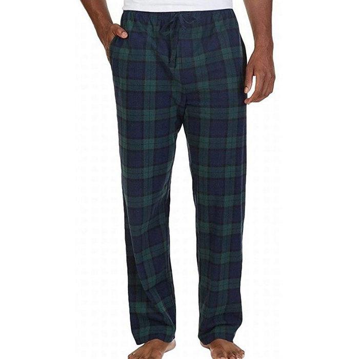画像1: NAUTICA   Black Watch Lightweight Sueded Fleece Pajama Pants  (1)