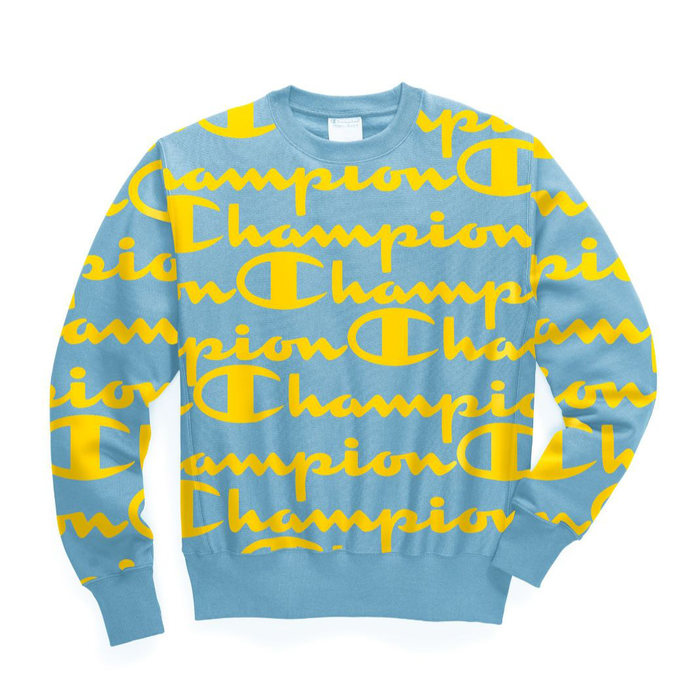 画像1: Champion   reverse weave all-over pullover logo Crew 2color (1)