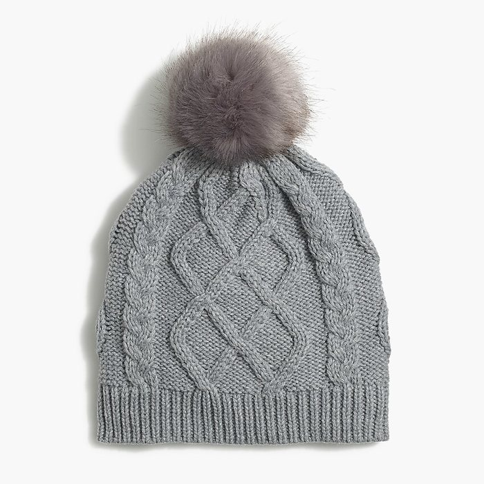 画像1: J.CREW WOMAN  faux-fur pom-pom hat 3color (1)