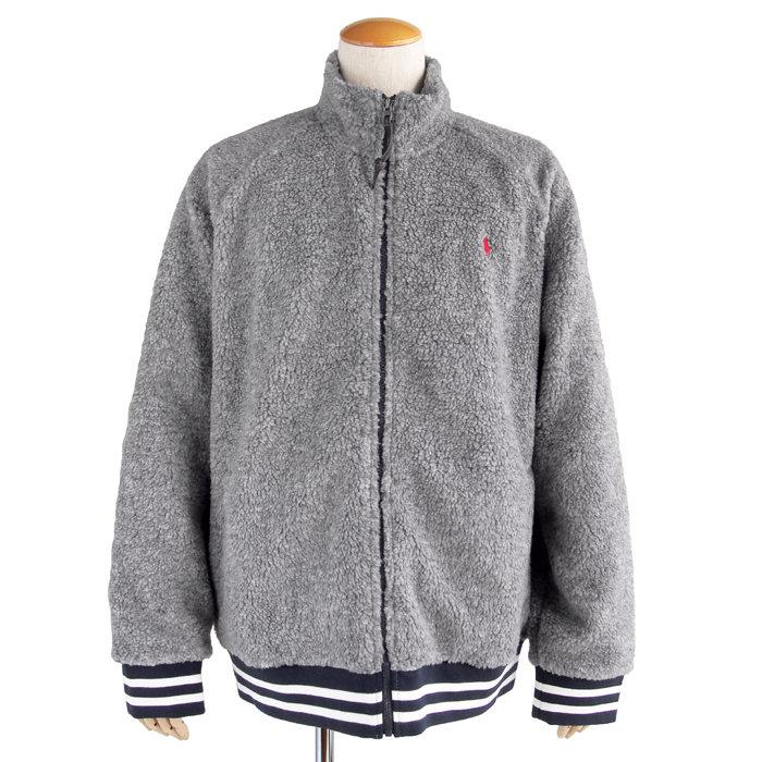 画像1: POLO RALPH LAUREN  zip up fleece jacket (XL) (1)