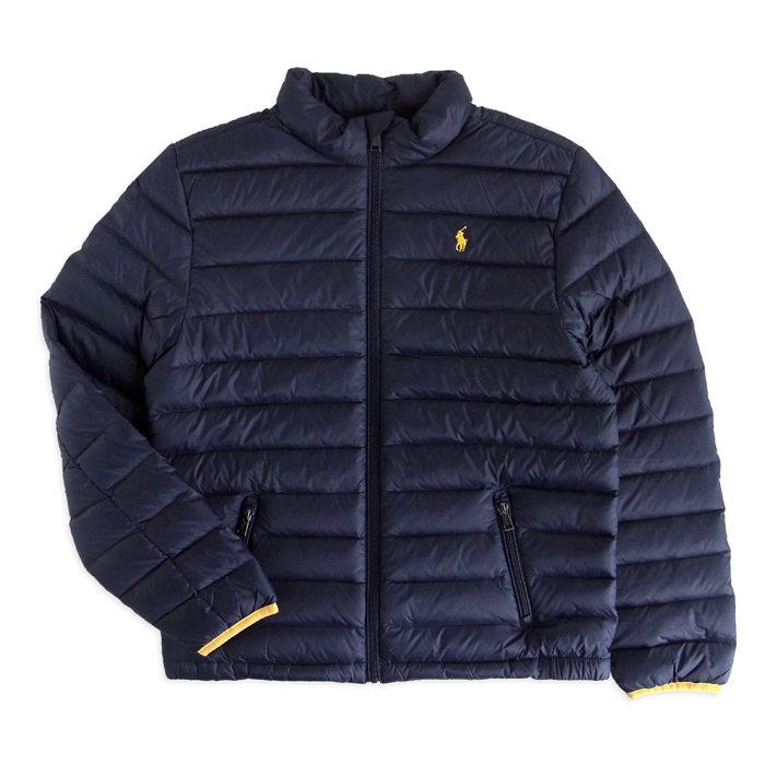 画像1: POLO RALPH LAUREN BOYS  packable quilted down jacket (BOYS L/XL) (1)