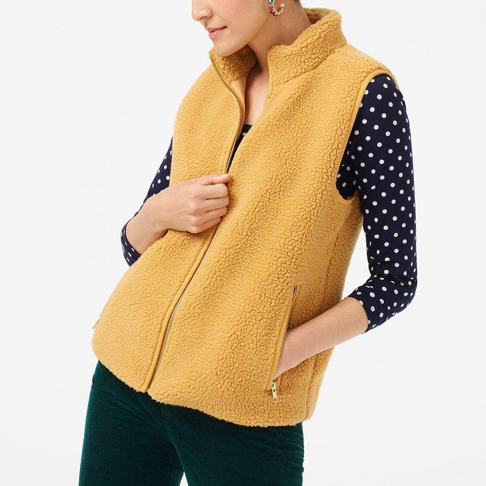 画像1: J.CREW WOMAN   Teddy-bear fleece vest (XS) (1)