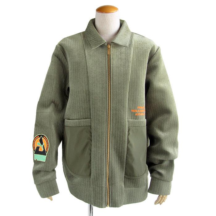画像1: PUMA × HAN KJOBENHAVN  zip-up bomber jacket (XL) (1)