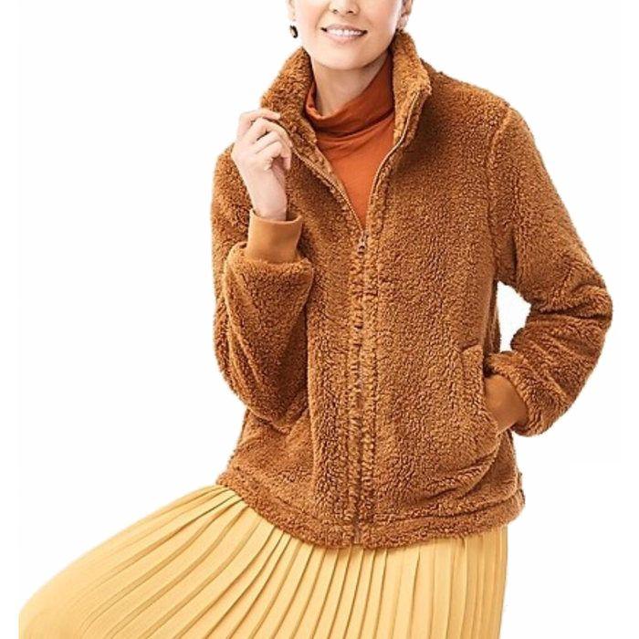 画像1: J.CREW WOMAN   Funnelneck sherpa jacket (S) (1)
