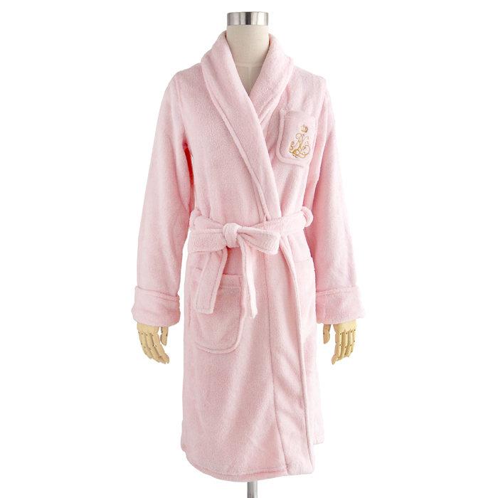 画像1: POLO RALPH LAUREN WOMEN  shawl-collar robe PI (S) (1)