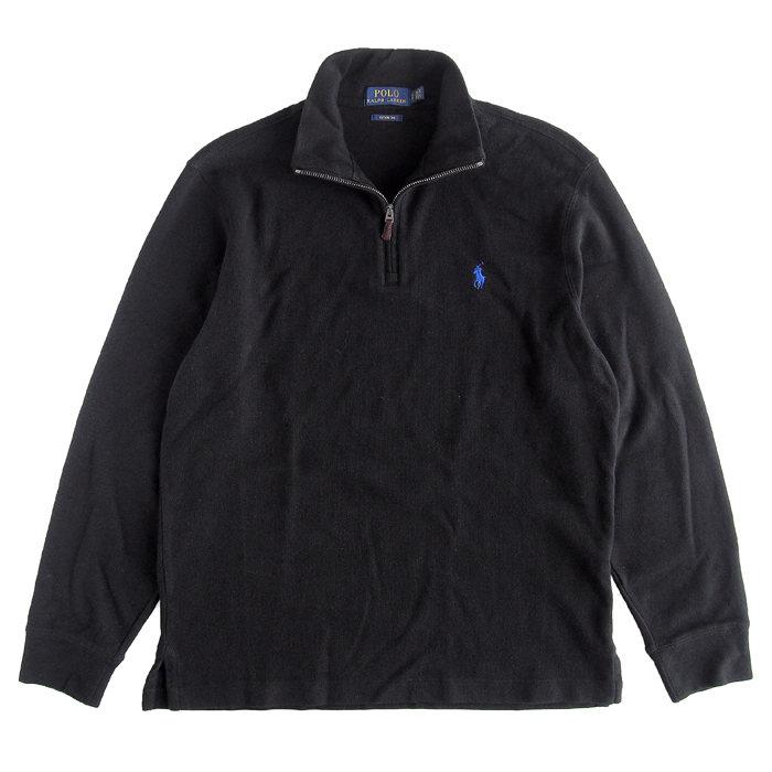 画像1: POLO RALPH LAUREN  estate-rib half-zip pullover BK (S) (1)