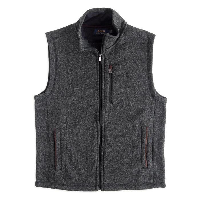 画像1: POLO RALPH LAUREN  fleece mockneck vest  (1)