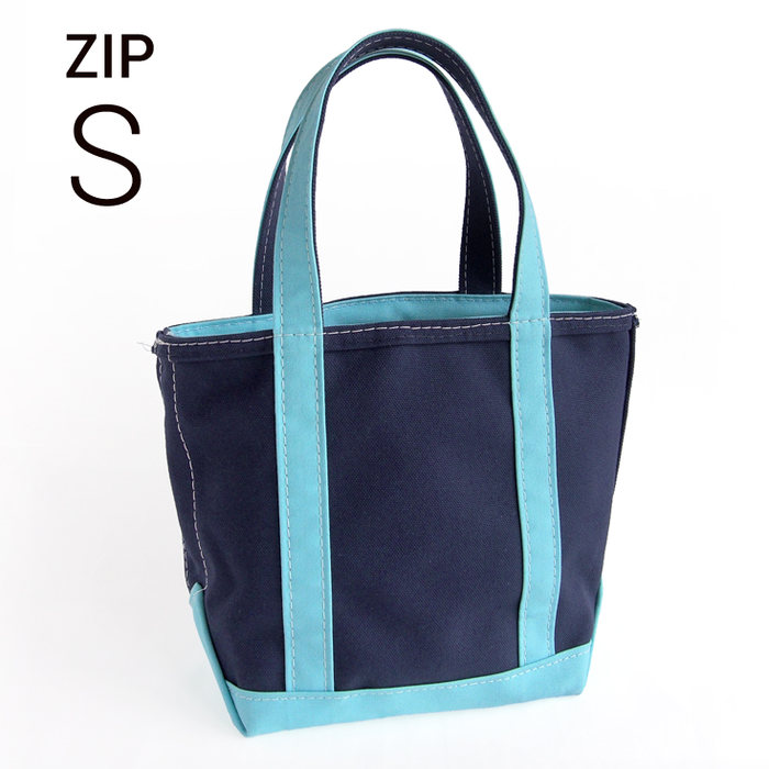 画像1: L.L.Bean  boat and tote bag Zip-Top (Irregular) regular handle CUSTOM (S) BLUE TRIM (1)