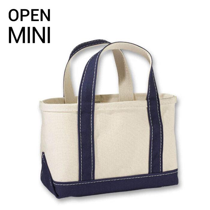画像1: L.L.Bean   boat and tote bag open-top (Irregular) regular handle MINI BLUE (1)