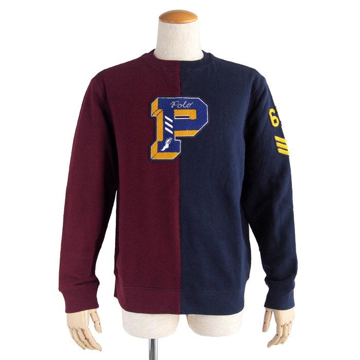 画像1: POLO RALPH LAUREN BOYS   fleece letterman sweatshirt  (1)