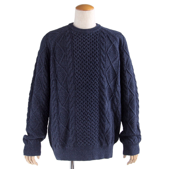 画像1: POLO RALPH LAUREN  fisherman cable crewneck sweater  (1)