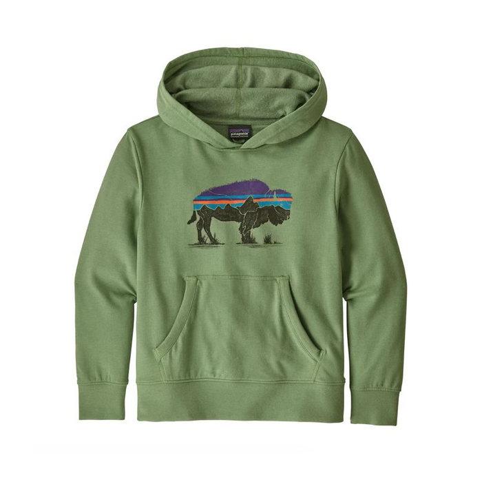 画像1: Patagonia Kids  Lightweight Graphic Hoody Sweatshirt (L)  (1)